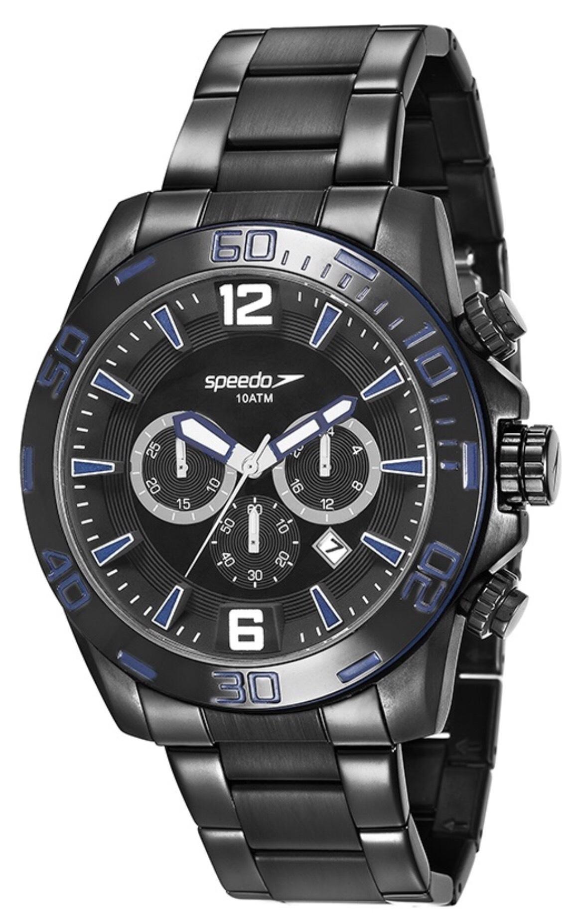 Relógio Masculino Speedo 24867GPEVPS2 48mm Aço Preto