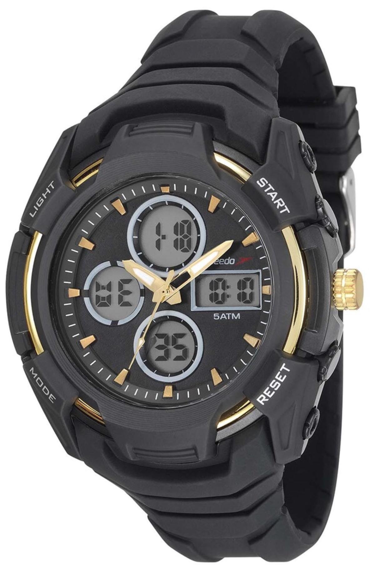 Relógio Masculino Speedo 81166G0EVNV1 Pulseira Borracha Preta