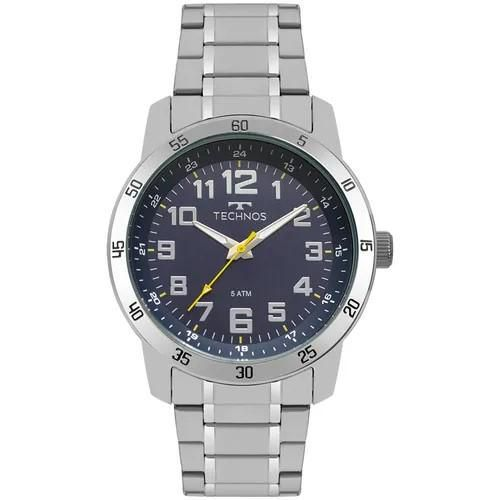 Relógio Masculino Technos 2035MNY/1A 46mm Aço Prata