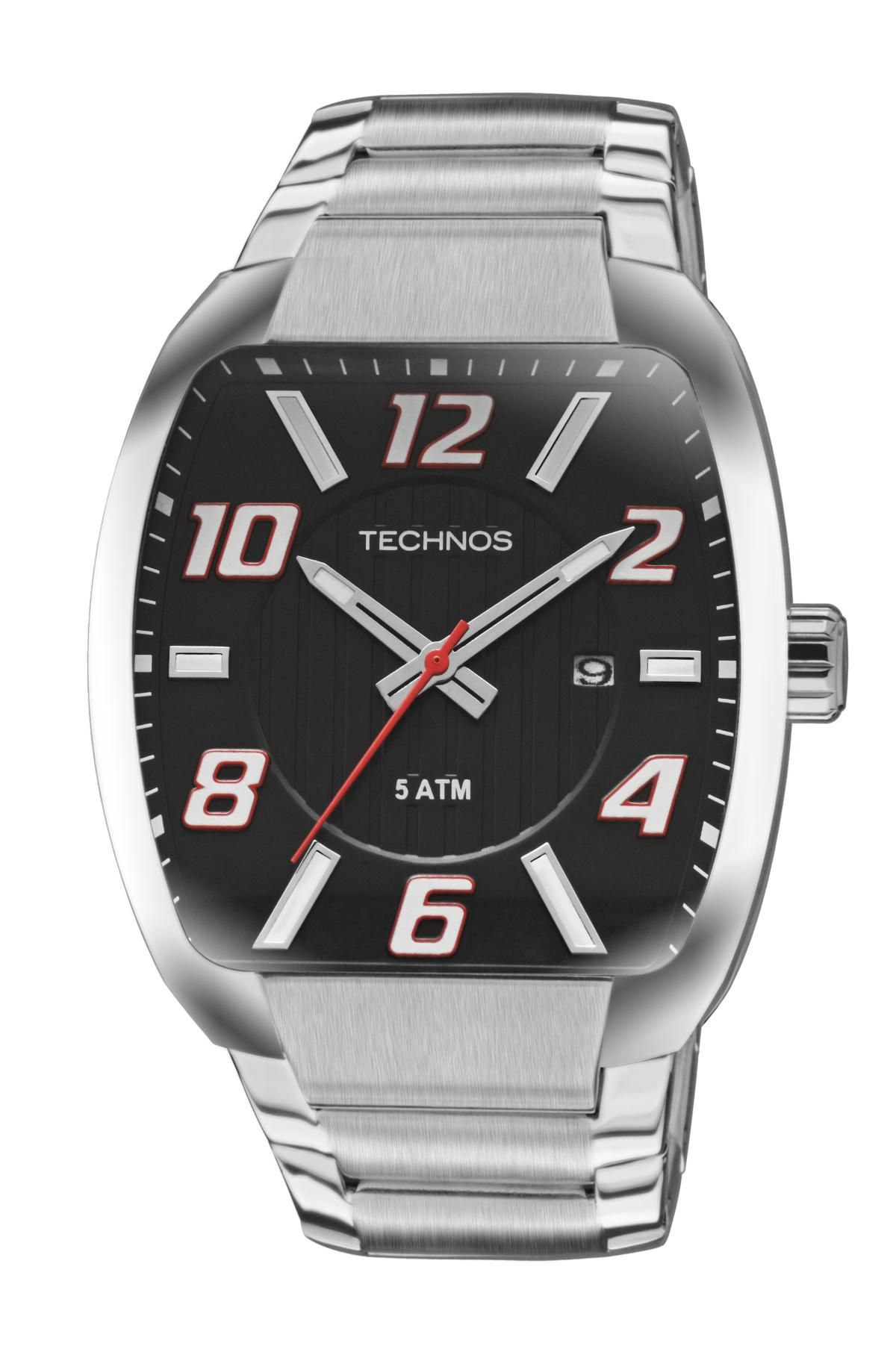 Relógio Masculino Technos 2115KLL/1P 43mm Aço Prata