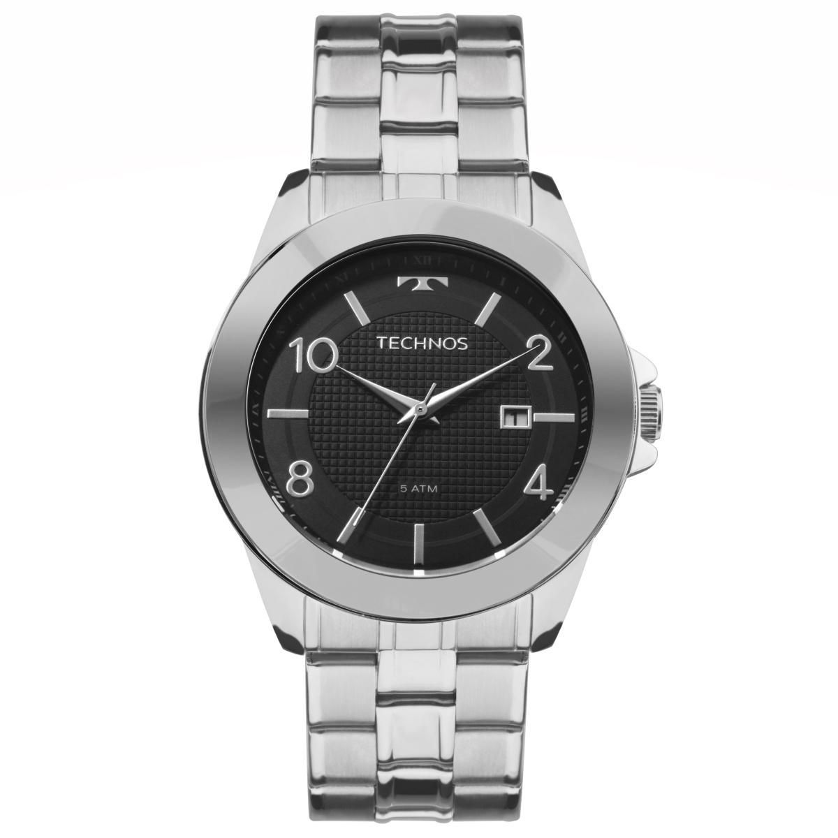 Relógio Masculino Technos 2115KQK/1C 43mm Prata