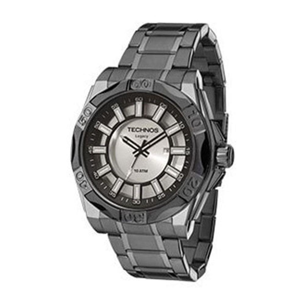 55df28c3762 Relógio Masculino Technos 2115KQO 1K 51mm Aço Fumê