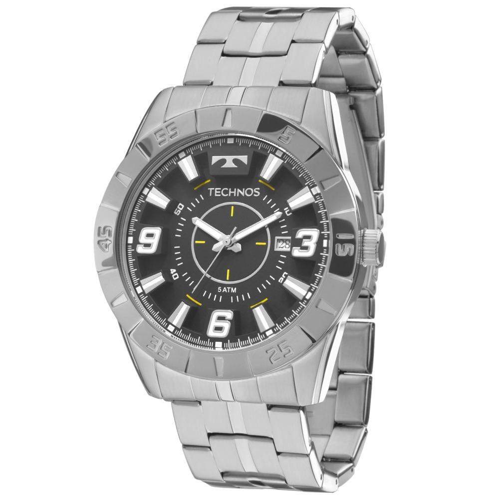Relógio Masculino Technos 2115KYX/1P 46mm Aço Prata
