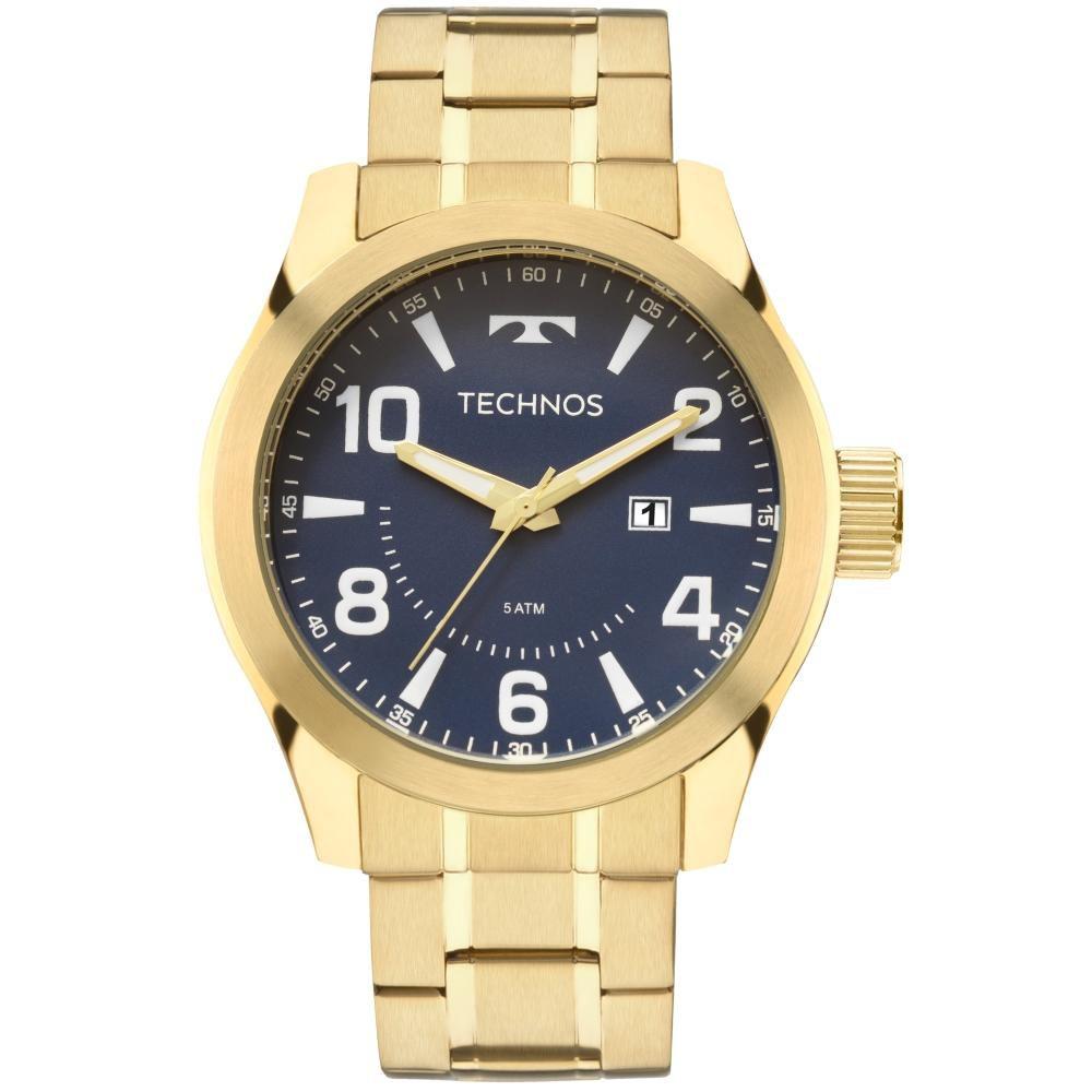 Relógio Masculino Technos 2115MGQ/4A 48mm Aço Dourado