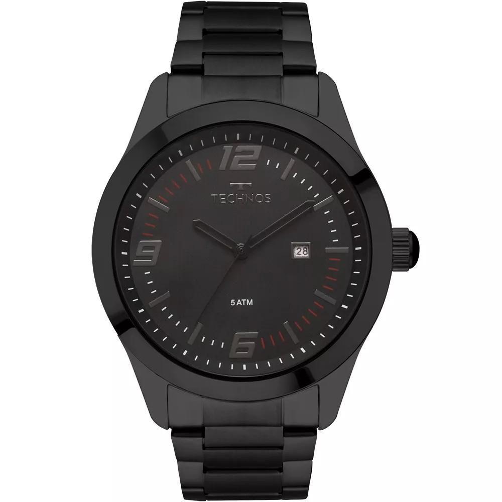 Relógio Masculino Technos 2115MOA/4P Aço Preto