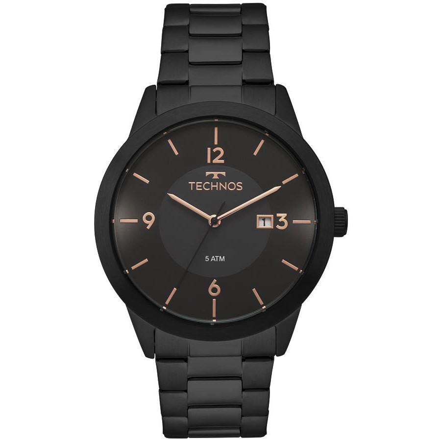 Relógio Masculino Technos 2115MOH/4P Aço Preto