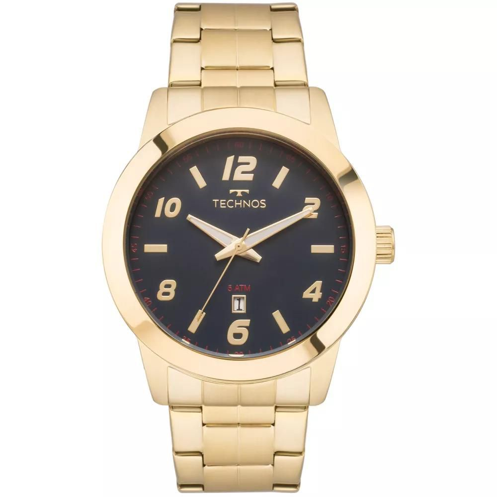 Relógio Masculino Technos 2115MOK/4A 46mm Aço Dourado