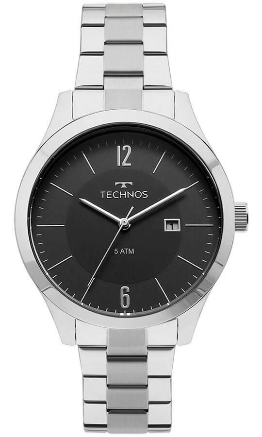 Relógio Masculino Technos 2115MOT/1P 43mm Aço Prata