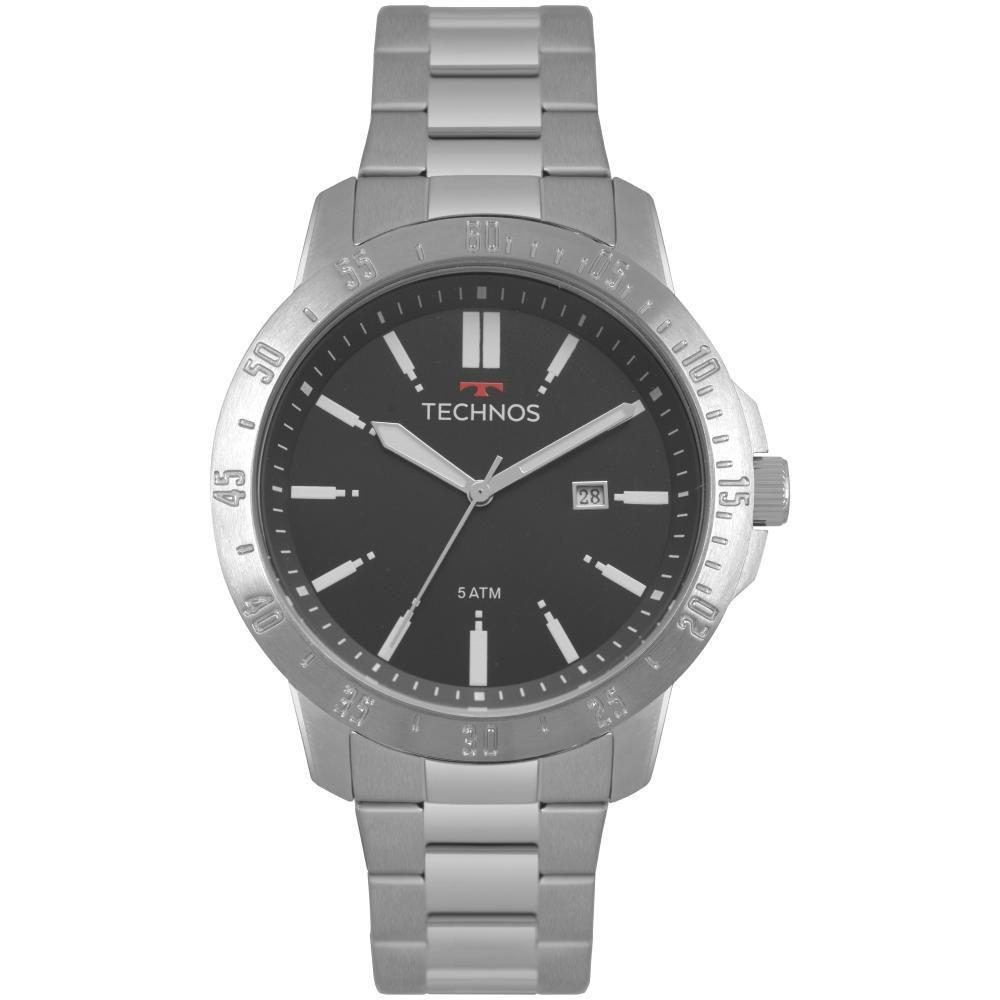 Relógio Masculino Technos 2115MQT/1C 46mm Aço Prata