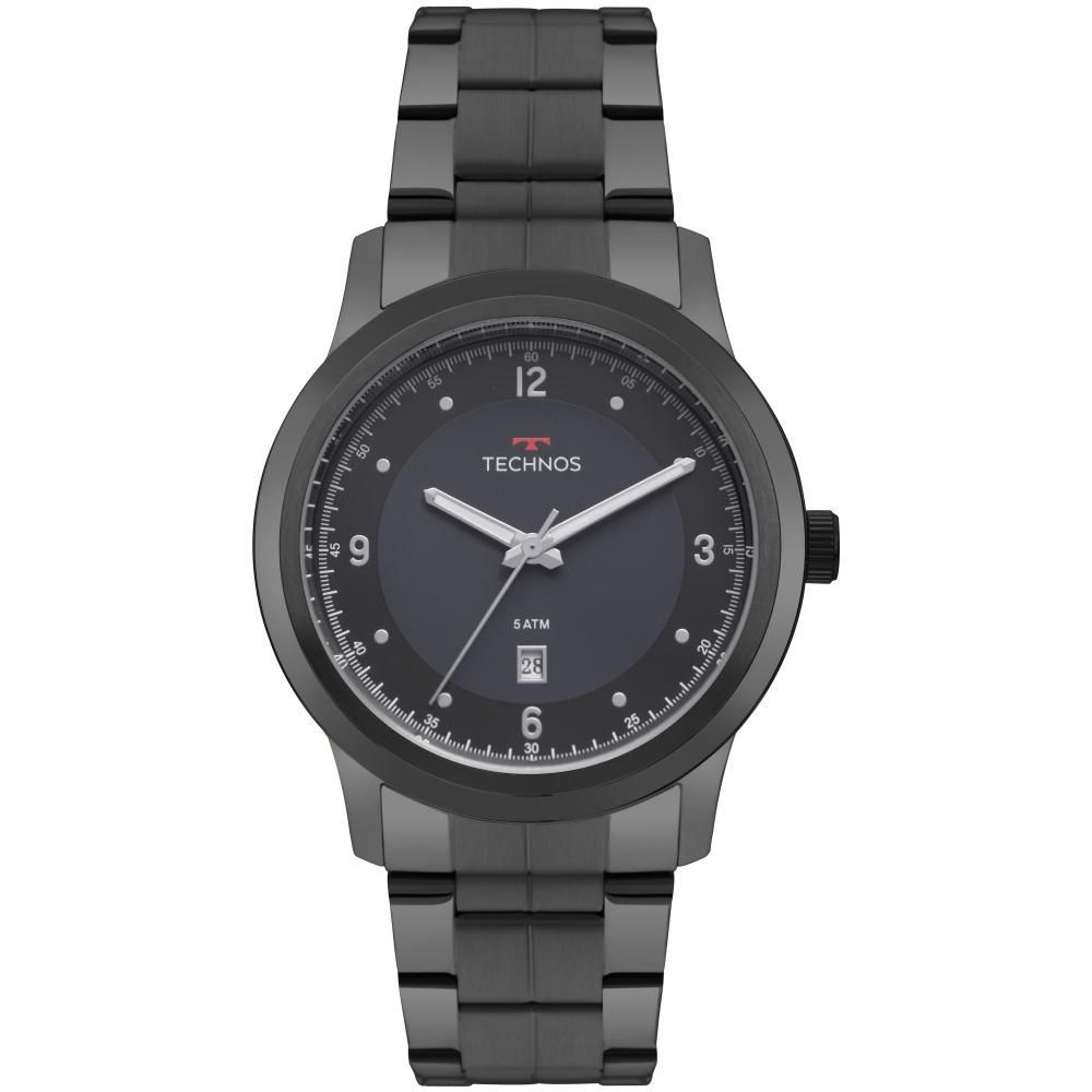 Relógio Masculino Technos 2115MRG/4A 45mm Aço Grafite