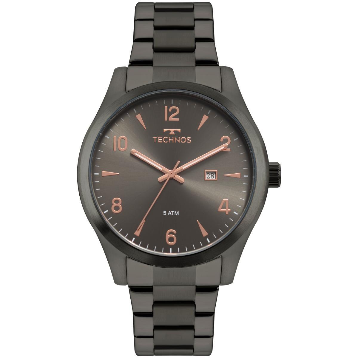Relógio Masculino Technos 2115MRY/4C 45mm Aço Grafite