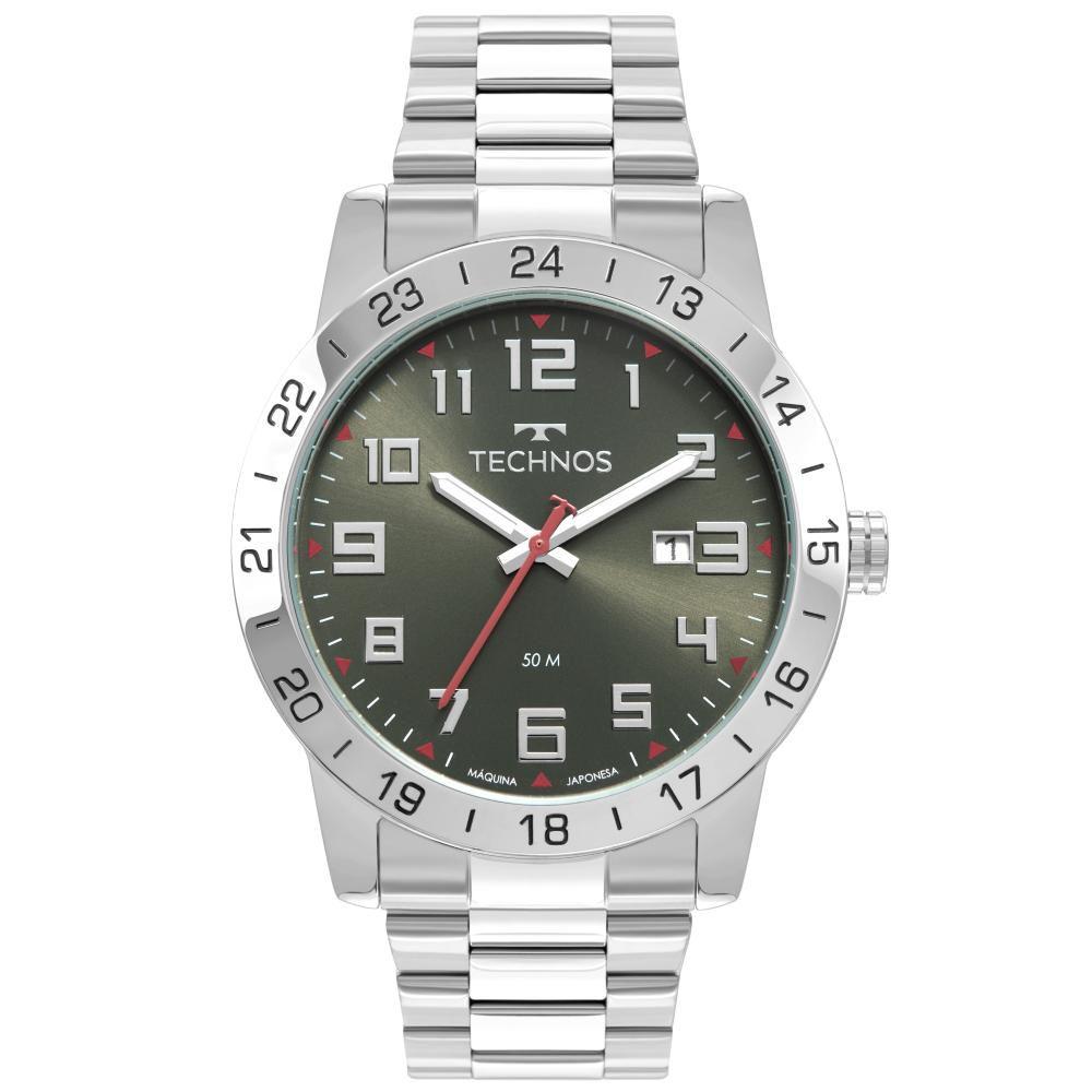 Relógio Masculino Technos 2115MWR/1F 43mm Aço Prata