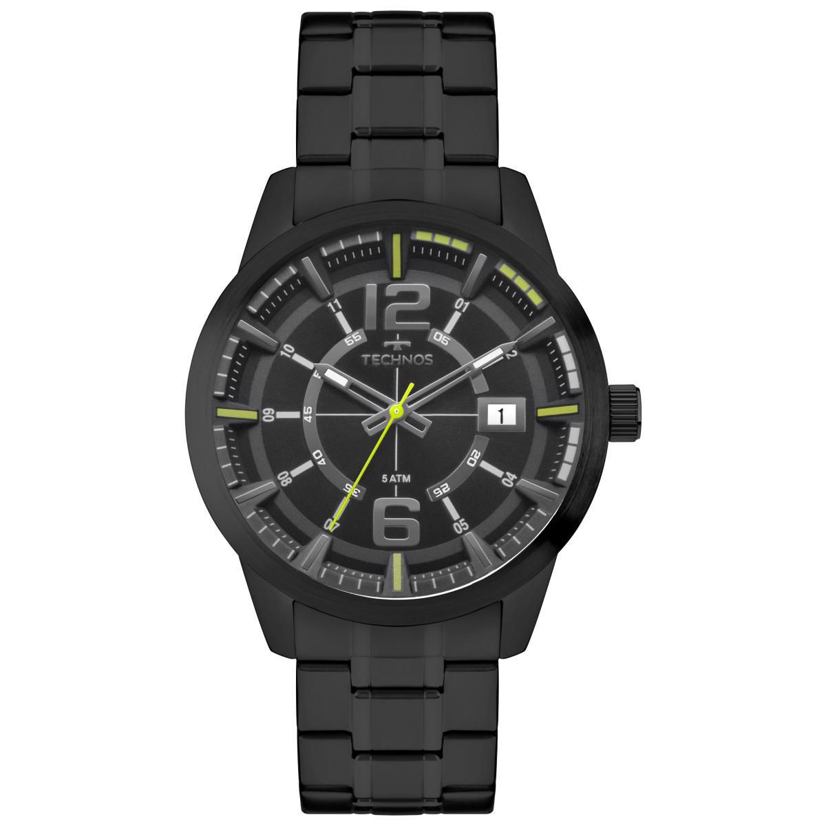 Relógio Masculino Technos 2315KZV/4P 44mm Aço Grafite