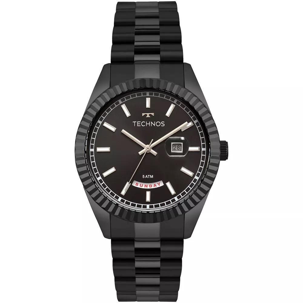 Relógio Masculino Technos 2350AC/4P 43mm Aço Preto