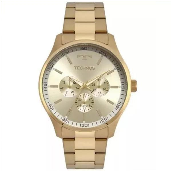 b2b5ca129b2 Relógio Masculino Technos 6P29AJN 4X 44mm Aço Dourado - Vitrino Relógios