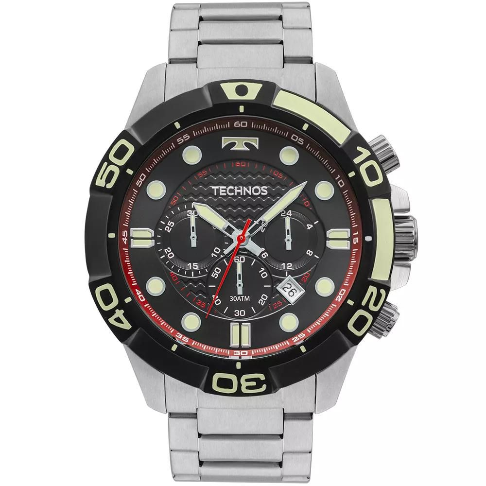 97d828f83cb Relógio Masculino Technos Acqua JS25BP 0P Aço Prata