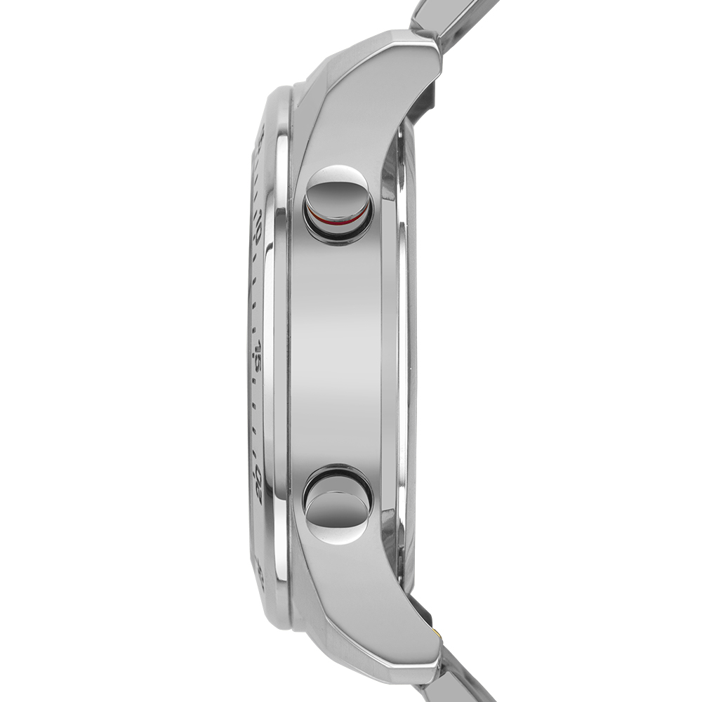 Relógio Masculino Technos  BJ3589AA/1K 37mm Aço Prata