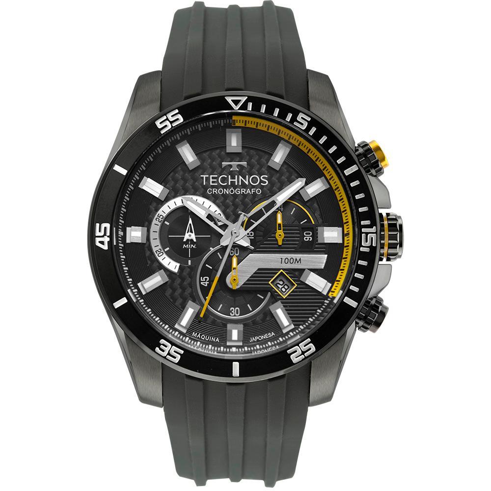 Relógio Masculino Technos Carbon JS25CN/2P 47mm Silicone Cinza