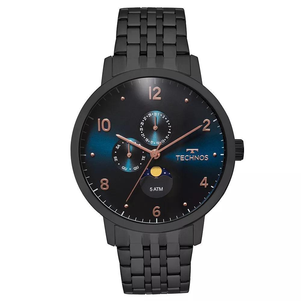 Relógio Masculino Technos  Classic Golf 6P21AA/4P 46mm Aço Preto