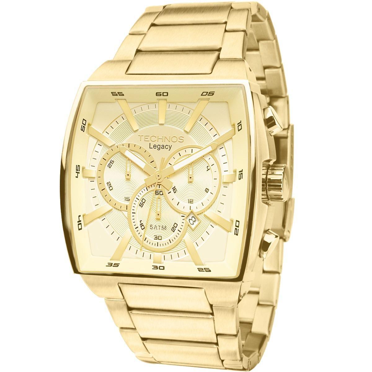 Relógio Masculino Technos Classic Legacy  JS25AL/4X 45mm Dourado