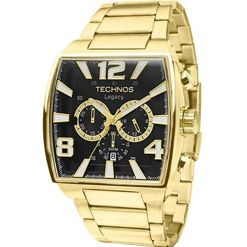 Relógio Masculino Technos Classic Legacy JS25AR/1D 45mm Dourado