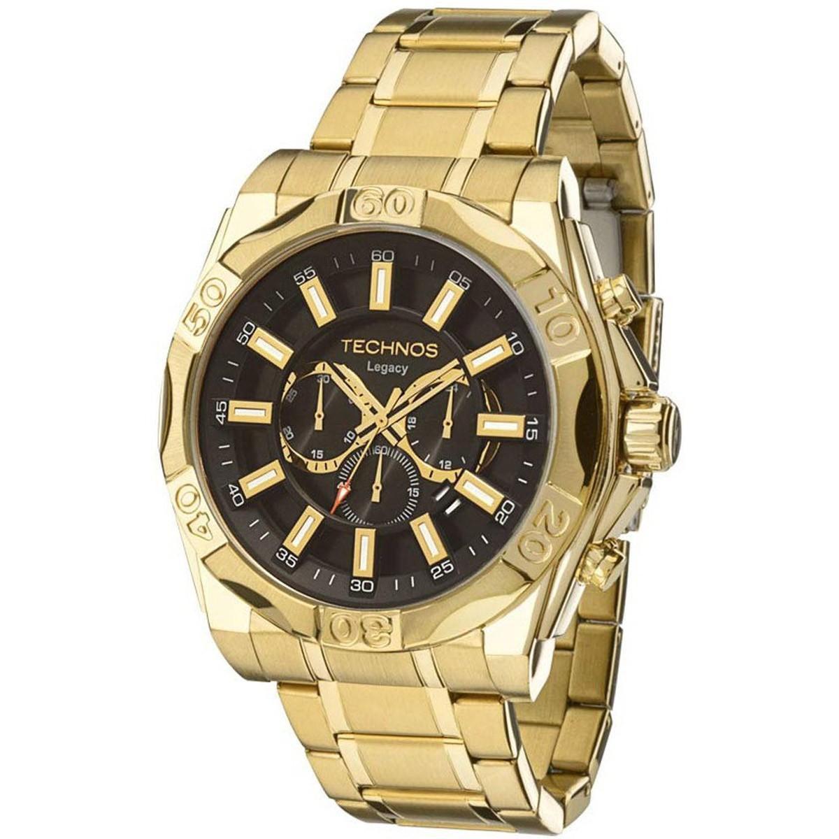 Relógio Masculino Technos Classic Legacy  JS25BC/4P 56mm Dourado