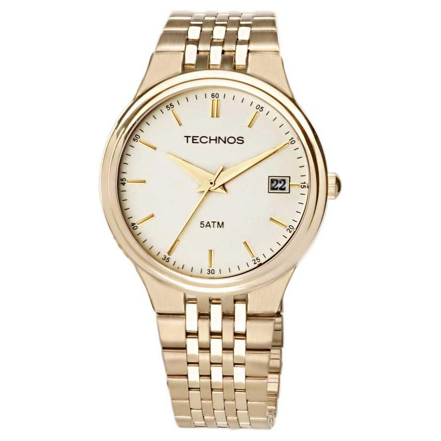 Relógio Masculino Technos Classic Steel 2115GR/4X 40mm Aço Dourado