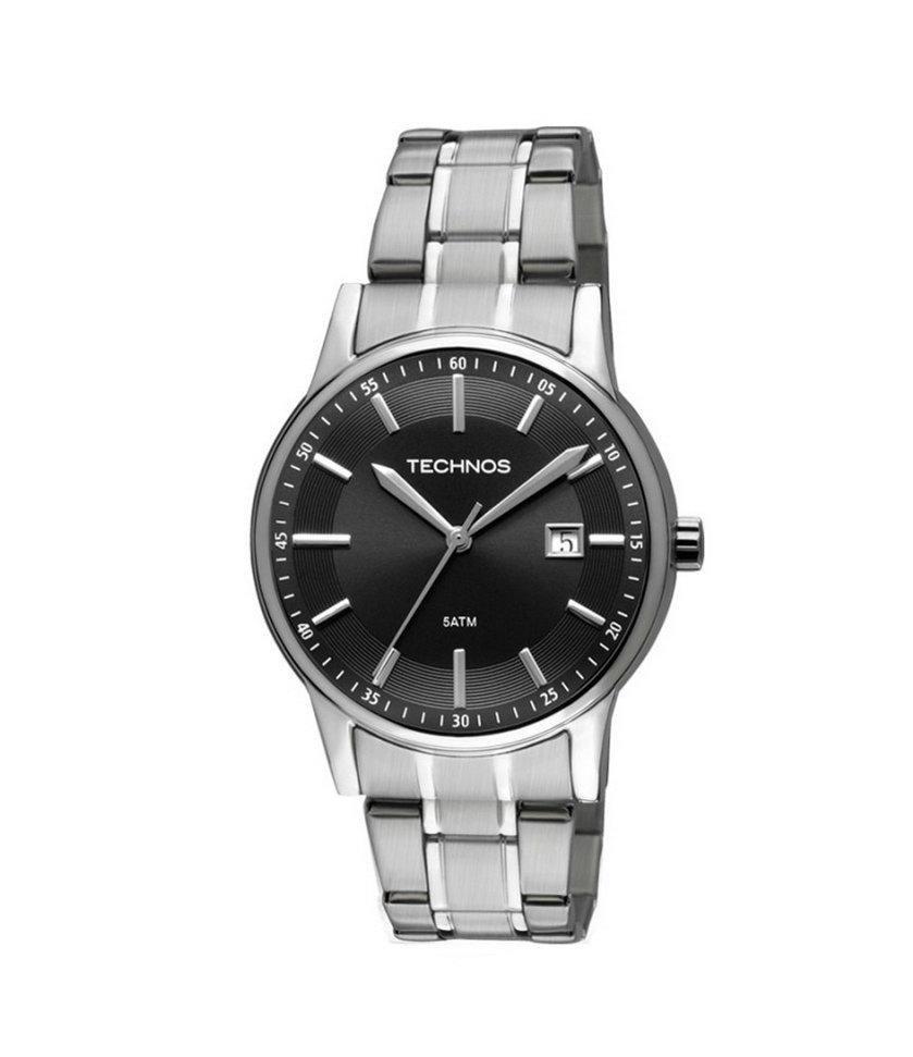 29ae75783ce96 Relógio Masculino Technos Classic Steel 2115RO 1P 40mm Aço Prata - Vitrino  Relógios