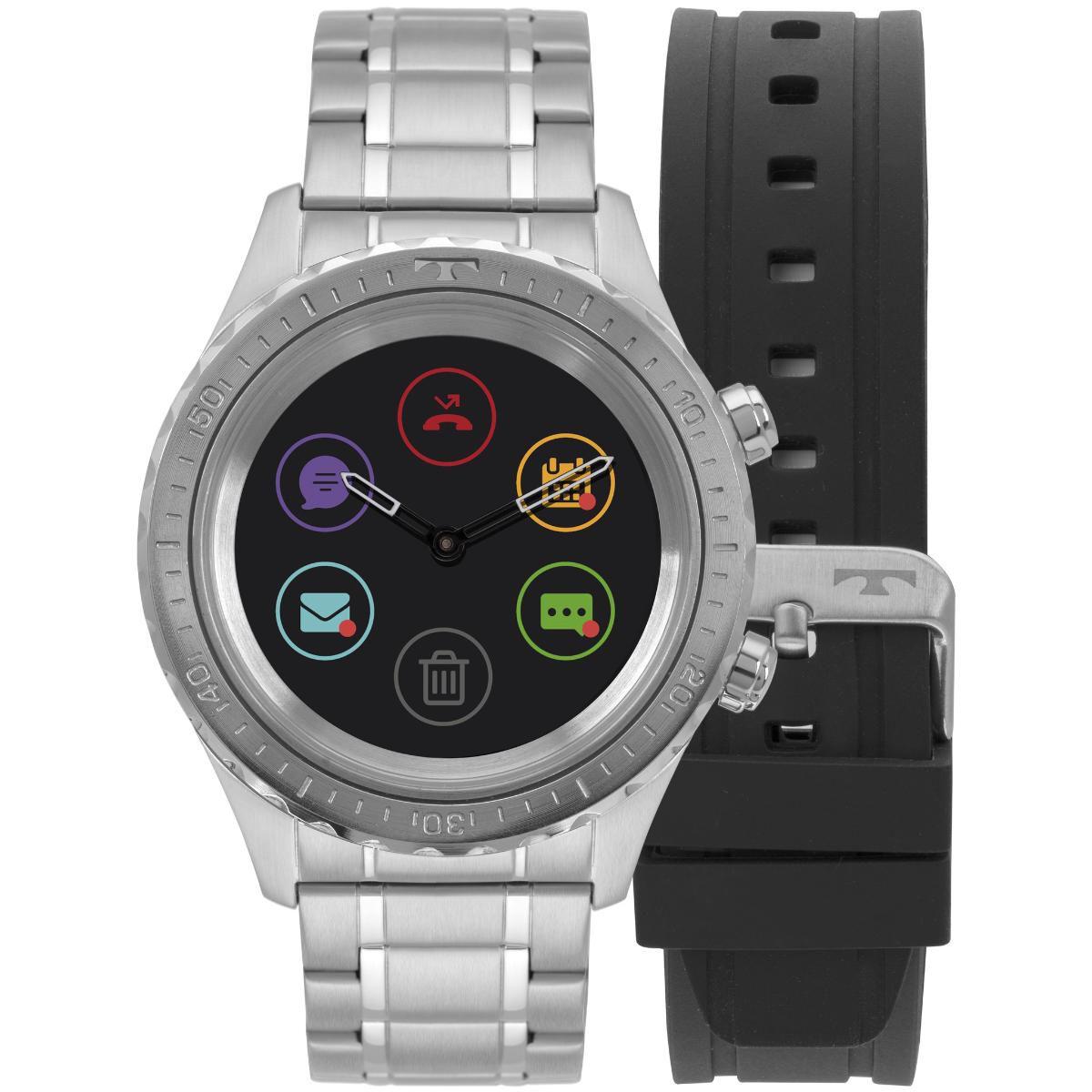 4f30accdcbf Relógio Masculino Technos Connect Duo Smartwatch P01AA 1P Aço Prata