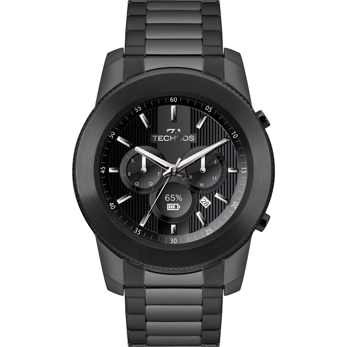 ec13584171744 Relógio Masculino Technos Connect Smartwatch M1AB 4P Aço Preto - Vitrino  Relógios ...