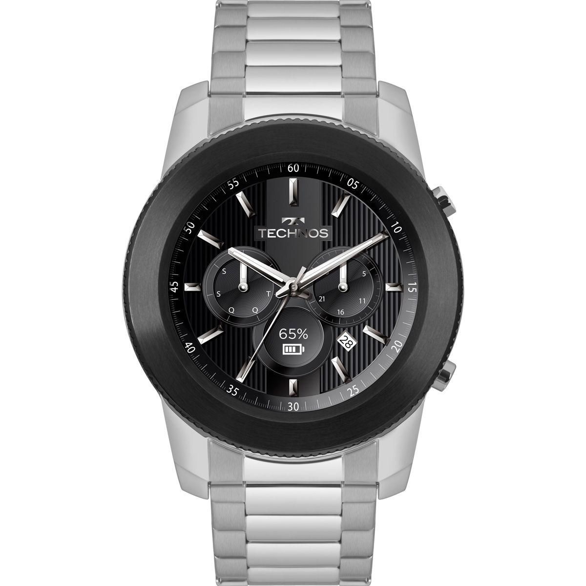 fdb977ff644 Relógio Masculino Technos Connect Smartwatch M1AC 5P Aço Prata