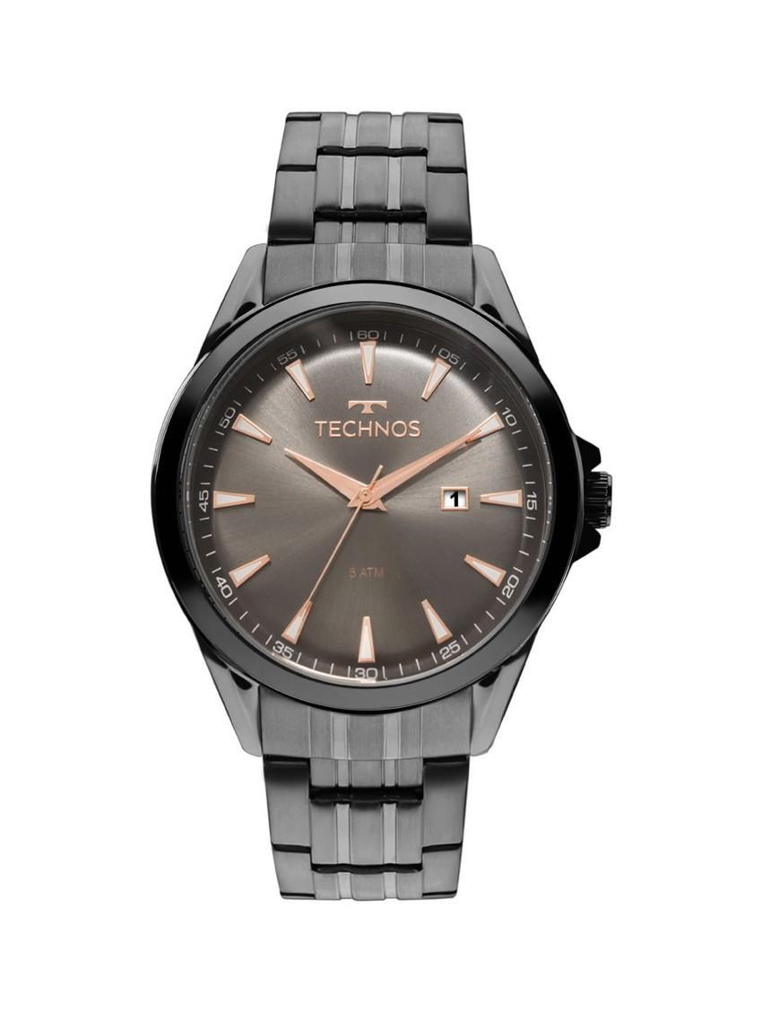 Relógio Masculino Technos Executive 2115LAT/4C 45mm Aço Grafite