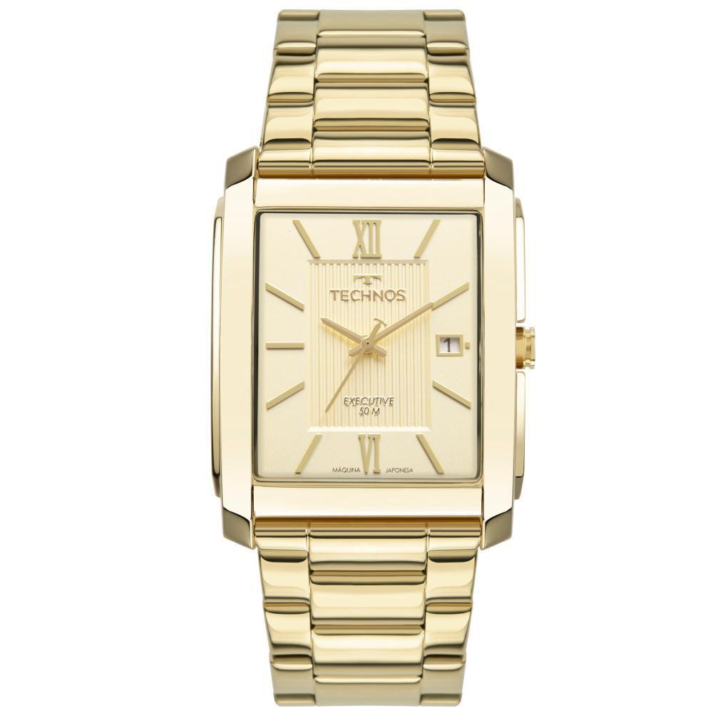 Relógio Masculino Technos Executive 2115MWW/1D 45mm Aço Dourado