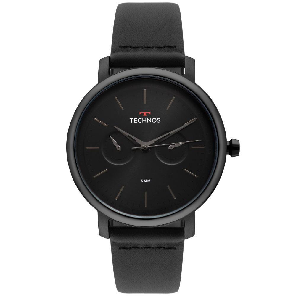 Relógio Masculino Technos Executive 6P25BU/4P 42mm Couro Preto