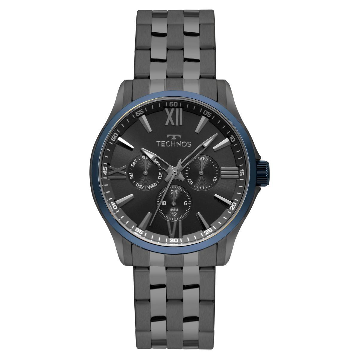 Relógio Masculino Technos Executive 6P29AJV/4P 42mm Aço Grafite