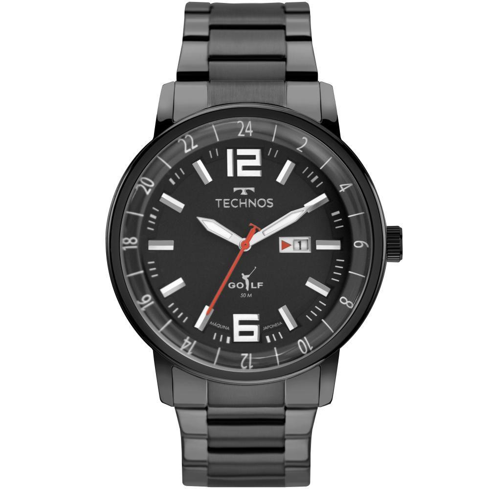 Relógio Masculino Technos Golf 2115MWC/1P 46mm Aço Preto