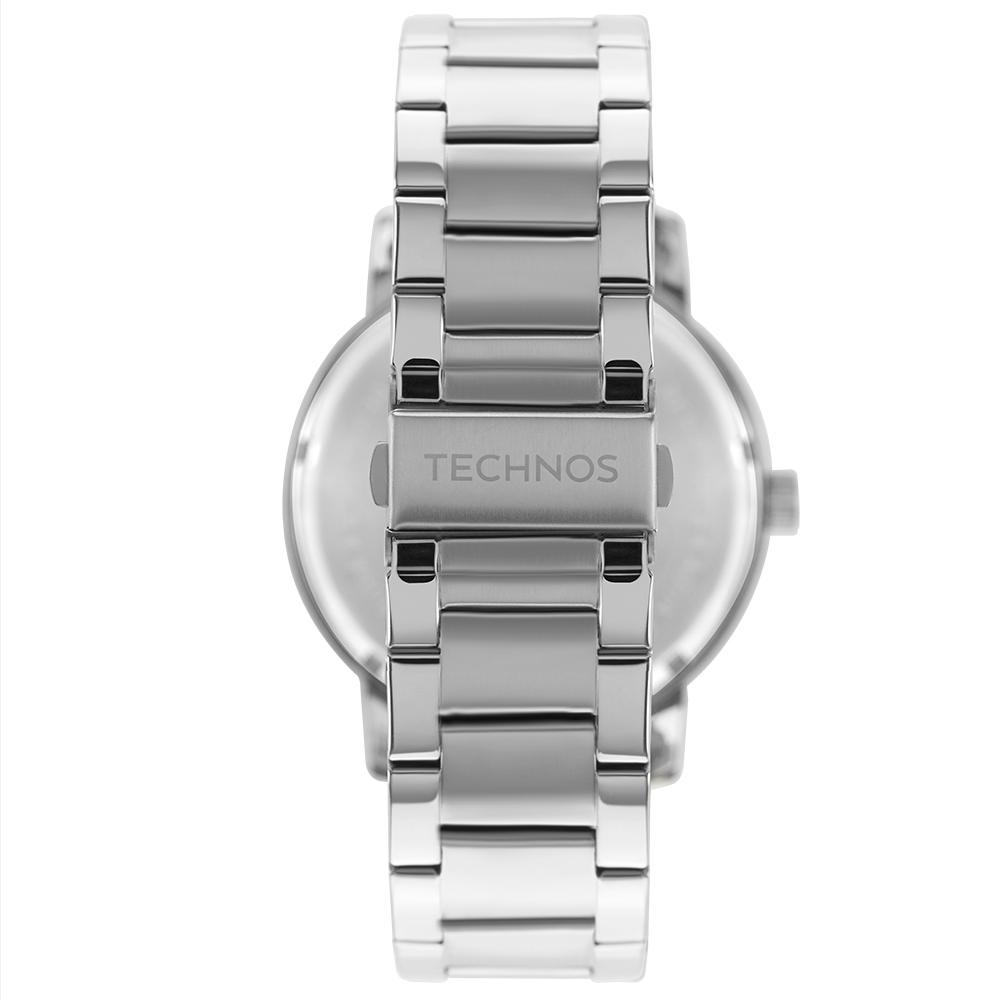 Relógio Masculino Technos Golf 2115MXW/1P 38mm Aço Prata