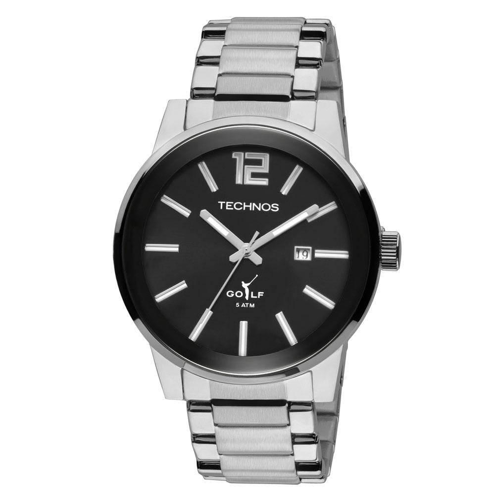 Relógio Masculino Technos Golf 2115TU/1P 45mm Aço Prata