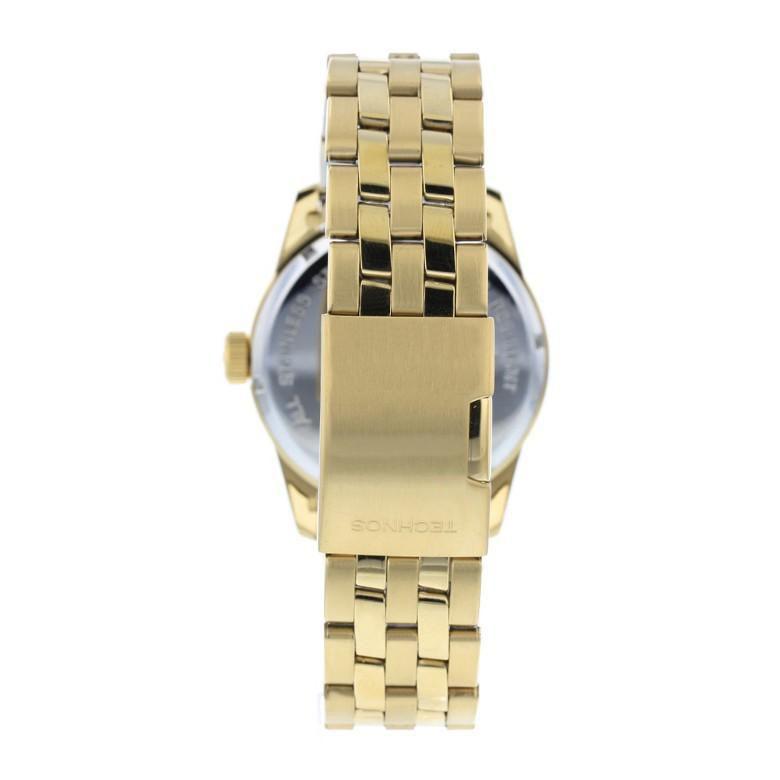 Relógio Masculino Technos Golf 2315YJ/4P 44mm Aço Dourado
