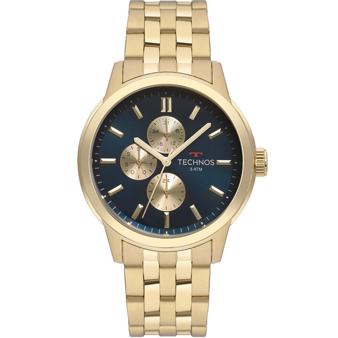 Relógio Masculino Technos GrandTech 6P27DT/4A 45mm Aço Dourado