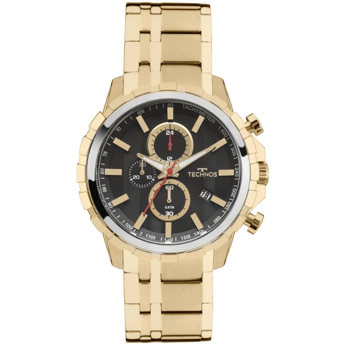 33df2b491b8 Relógio Masculino Technos JS15EY 4P SkyMaster Dourado