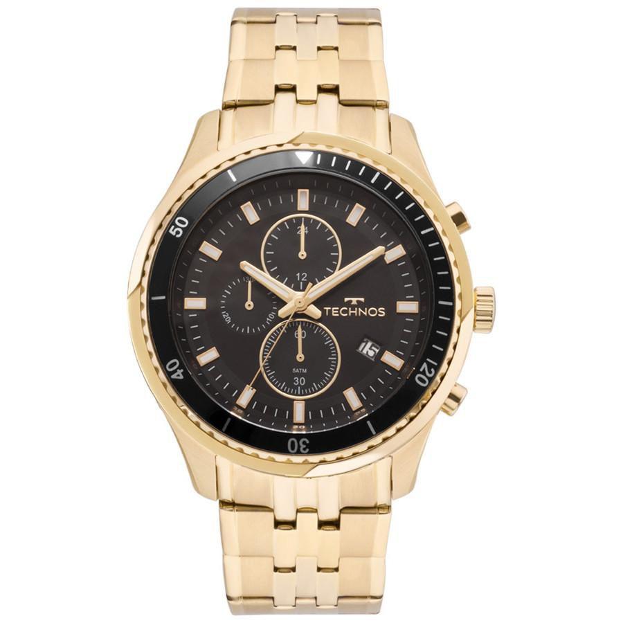 Relógio Masculino Technos JS15FE/4P 48mm Pulseria Aço Dourado