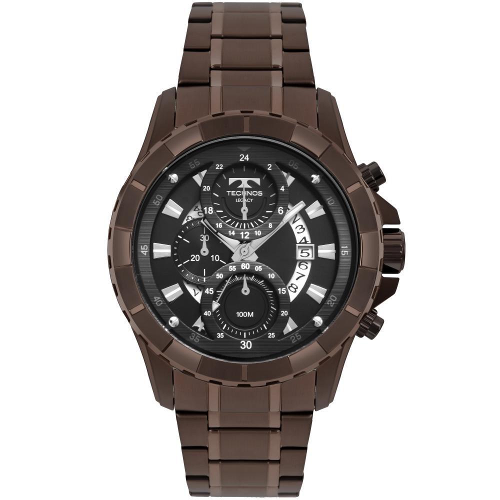 Relógio Masculino Technos JS15FN/4P 50mm Aço Marrom