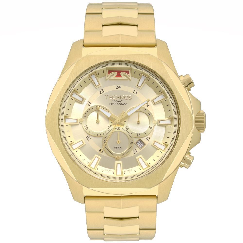 Relógio Masculino Technos JS26AM/4X 53mm Aço Dourado