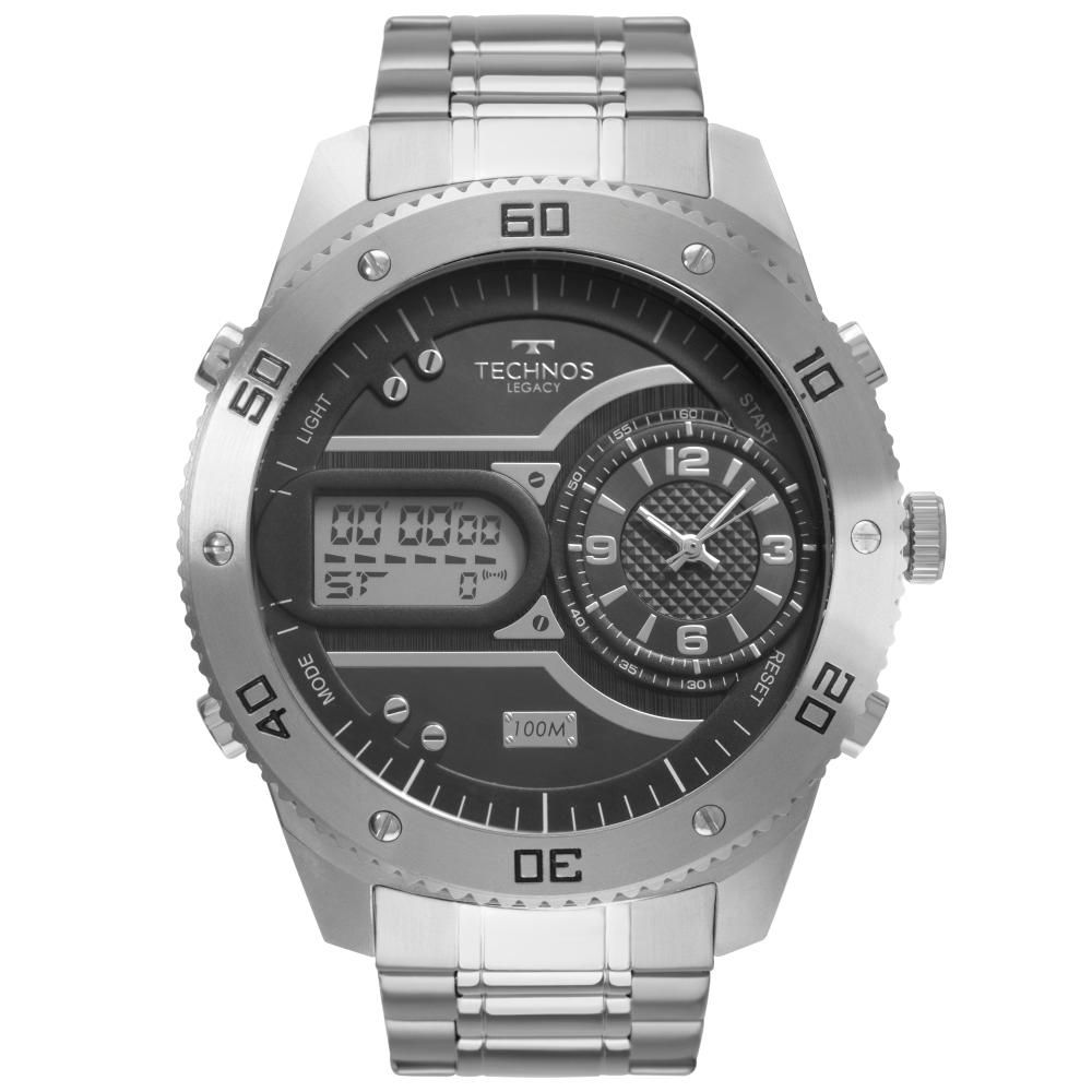 Relógio Masculino Technos Legacy 2039CC/4P 55mm Aço Prata