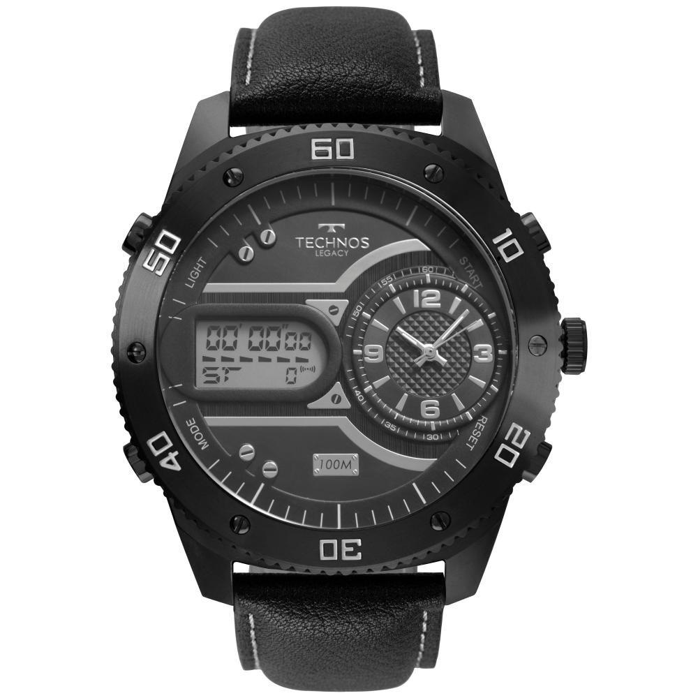 Relógio Masculino Technos Legacy 2039CD/2C 55mm Couro Preto