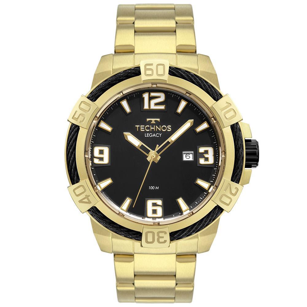 Relógio Masculino Technos Legacy 2317AD/1P 53mm Aço Dourado