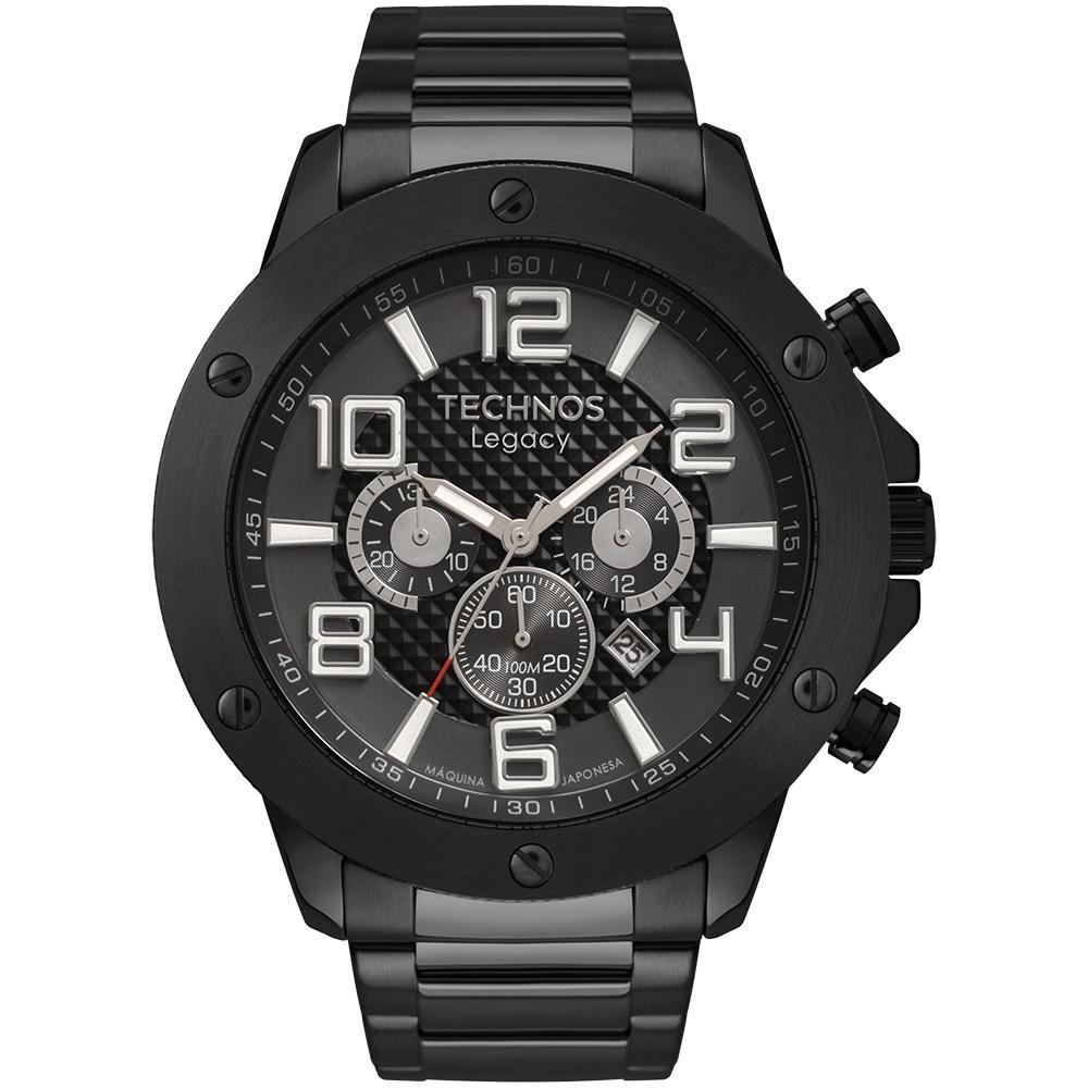 Relógio Masculino Technos Legacy JS26AU/4P 52mm Aço Preto