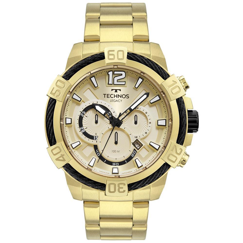 Relógio Masculino Technos Legacy JS26AW/1D 53mm Aço Dourado