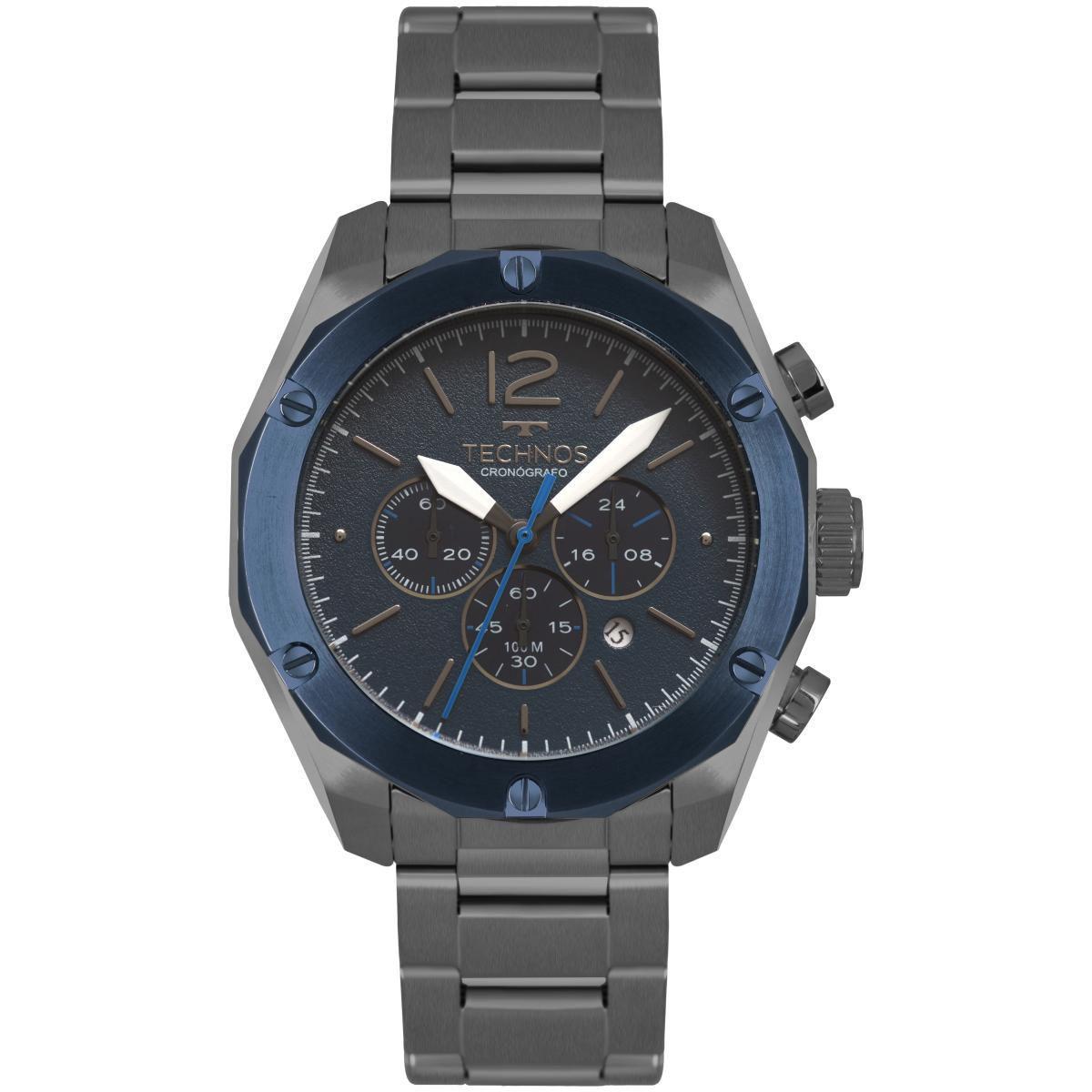 Relógio Masculino Technos OS20HMG/4A 45mm Aço Grafite